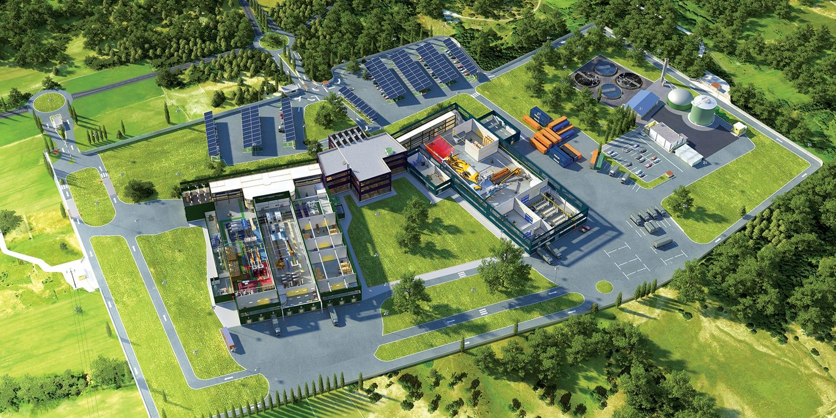 Illustration d'usine en 3D