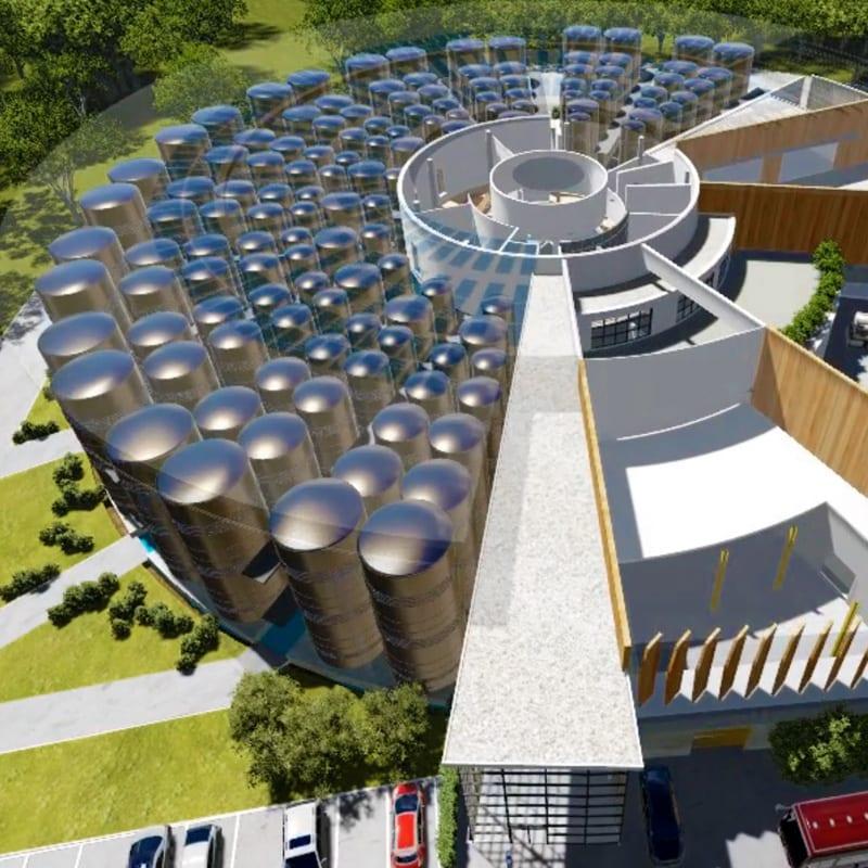 Animation 3D d'architecture industrielle